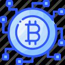 bitcoin, block, blockchain, crypto, network icon