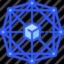 block, blockchain, crypto, decentralized, network icon