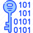 binary, encrypt, key, protect, security icon