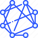 connection, decentralized, master, network, node icon