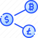bitcoin, coin, crypto, currency, share icon