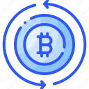 bitcoin, cypto, exchange, money, transaction icon
