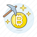 asset, bitcoin, crypto, cryptocurrency, cryptomining, currency, digital, mining icon