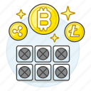 2, asset, computer, crypto, cryptocurrency, cryptomining, currency, digital, mining icon