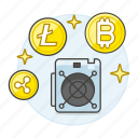 3, asset, computer, crypto, cryptocurrency, cryptomining, currency, digital, mining icon