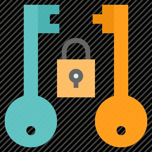 asymmetric, blockchain, data, engryption, key, secured icon