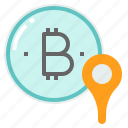 account, address, bitcoin, crypto, location, wallet icon