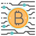 bitcoin, btc, cryptocurrency, digital, money icon