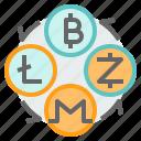 bitcoin, cryptocurrency, exchange, litecoin, monero, transfer, zcahs