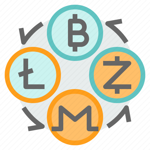 bitcoin, cryptocurrency, exchange, litecoin, monero, transfer, zcahs icon