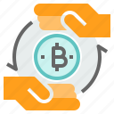 bitcoin, cryptocurrency, exchange, payment, transfer icon