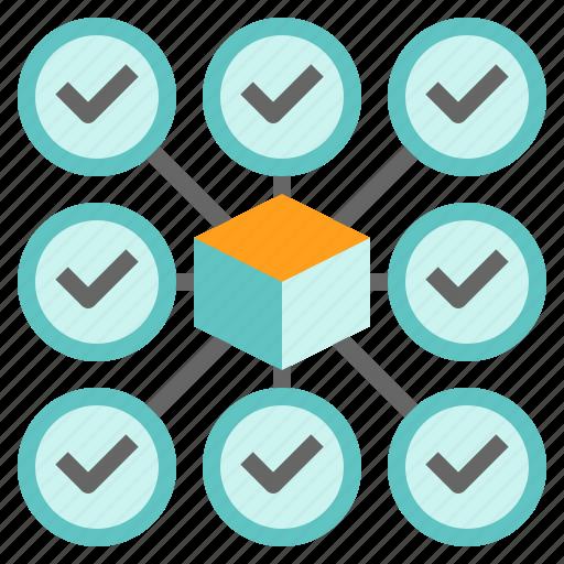 Block, blockchain, network, technology, validation icon - Download on Iconfinder