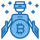 auto, banking, business, cryptocurrency, finance, money, robot icon