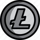 business, coin, cryptocurrency, digital, litecoin, money icon