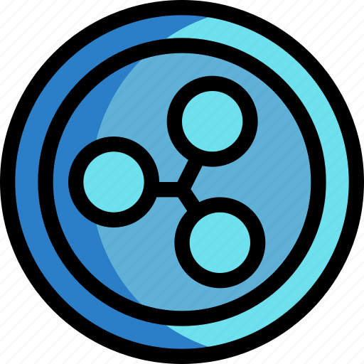 business, coin, cryptocurrency, digital, money, ripple icon