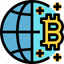 business, cryptocurrency, digital, global, money, network icon