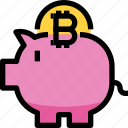 business, cryptocurrency, digital, money, piggy bank, saving icon