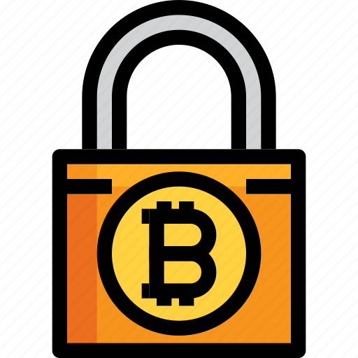business, cryptocurrency, digital, lock, money, security icon