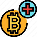 add, business, cryptocurrency, digital, money, plus icon