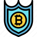 business, cryptocurrency, digital, money, protect, shield icon