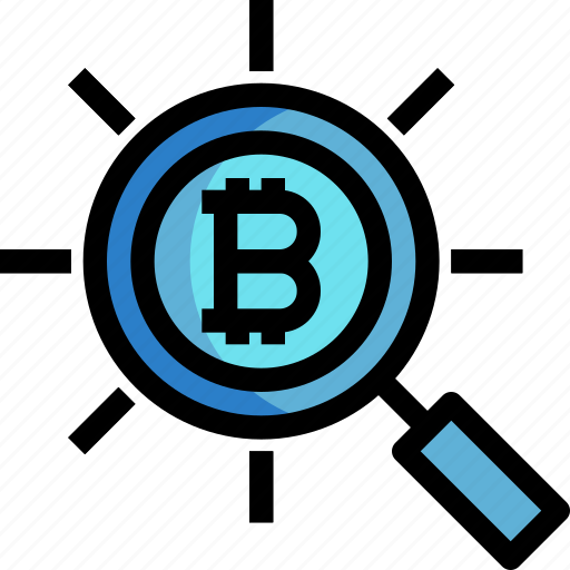 business, cryptocurrency, digital, money, search icon