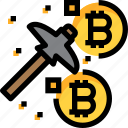 business, coin, cryptocurrency, digital, mining, money icon