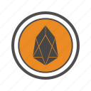 cryptocurrencies, cryptocurrency, eos icon