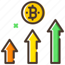 analysis, bitcoin, cryptocurrency, profit, statistics icon
