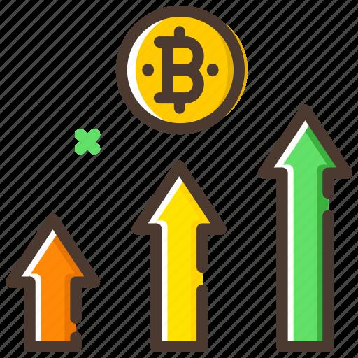 analysis, bitcoin, cryptocurrency, profit, statistics icon