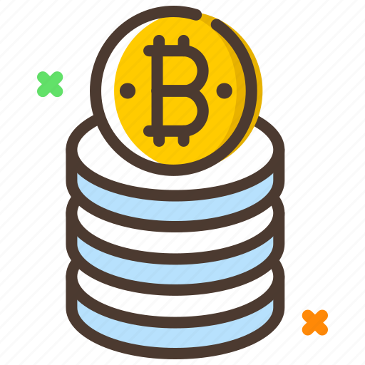bitcoin, cryptocurrency, database, digital currency, storage icon