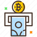 bitcoin, cash, conversion, digital currency, withdraw cash icon