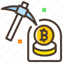 bitcoin, business, coin mining, digital currency, mining icon