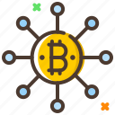 bitcoin, blockchain, cryptocurrency, digital currency icon