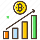 analytics, bar chart, bitcoin, chart, market, value icon