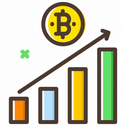 analytics, bar chart, bitcoin, chart, market, value icon