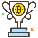 award, bitcoin, cryptocurrency, digital currency, reward icon