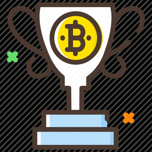 award, bitcoin, cryptocurrency, digital currency, reward icon