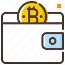 add coin, bitcoin, no cash, payment, purse, wallet icon