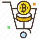 bitcoin, coin, cryptocurrency, digital currency, shop