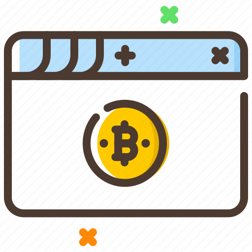 bitcoin, cryptocurrency, online, web, website icon