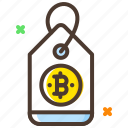 bitcoin, cryptocurrency, discount, online shopping, payment, shopping tag