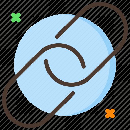 attach, attachment, chain, clip icon