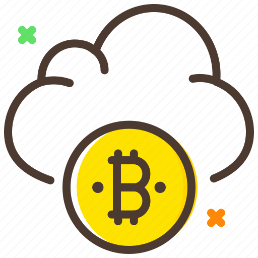 bitcoin, cloud, cryptocurrency, digital currency icon