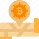 bitcoin, cryptocurrency, location, map, pin