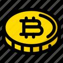 bitcoin, coin, token icon