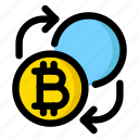 bitcoin, convert, cryptocurrency, exchange, trade icon
