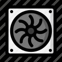cooling, fan, refrigeration, ventilation icon