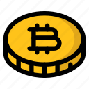 bitcoin, coin, cryptocurrency icon