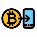 app, bitcoin, cryptocurrency, mobile, wallet icon