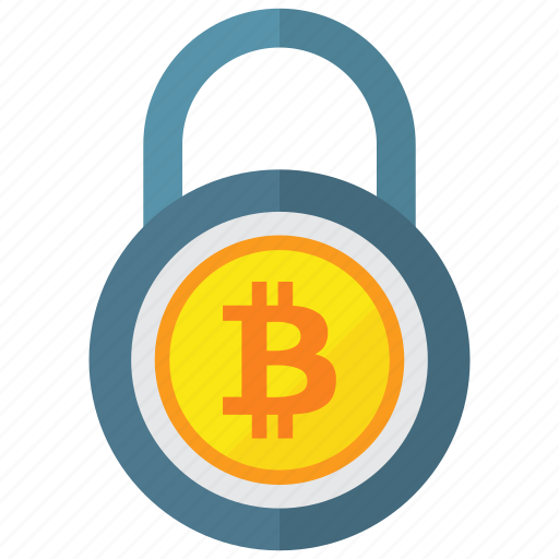 bitcoin, lock, locked, padlock icon